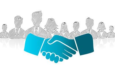 Hand drawn shake hands