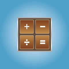 Chocolate math icon