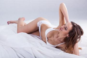 Beautiful lady in underwear