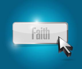 faith button illustration design
