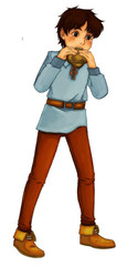 Fairytale cartoon character - illustration for the children
