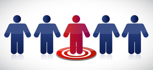 people row and target illustration design