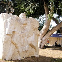 Petah Tikva Bas Relief of a man on a horse 2010