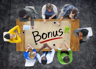 Group of People Discussing Bonus Creativity