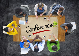 Multiethnic Group with Conference Concept