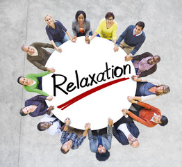 Aerial View of People and Relaxation Concepts