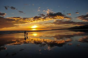 Beautiful sunsets of Playa el Cuco, El Salvador