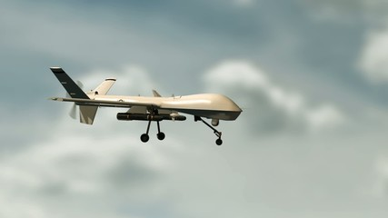 010 An Armed Predator Drone In Flight On The Camera
