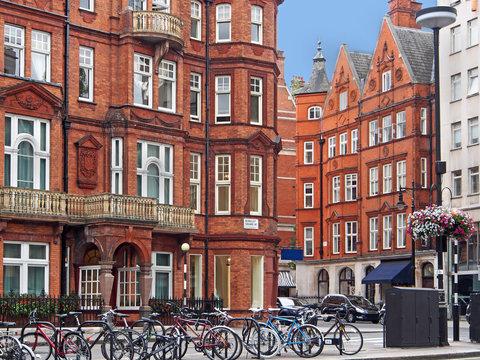 London Mayfair district apartment buildings