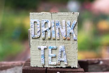 Tea break concept