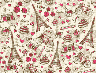 Paris vintage background