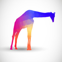 Geometric silhouettes animals Giraffe