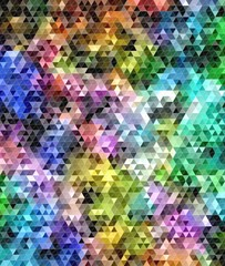 Abstract colored triangular mosaic background