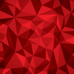 Abstract vector geometry background, red planes