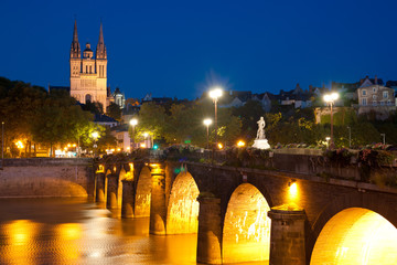 Angers at night