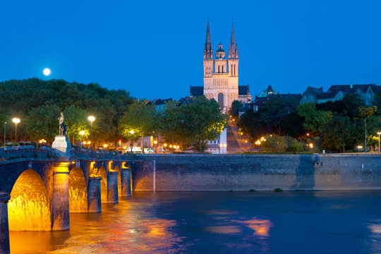 Angers at a summer night
