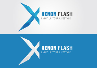 X Xenon icon symbol from an alphabet letter X.