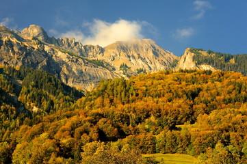 Obraz krajobraz górski, Szwajcaria, alpy - fototapety do salonu