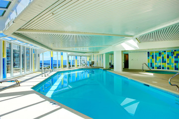 Swimming pool in residential building