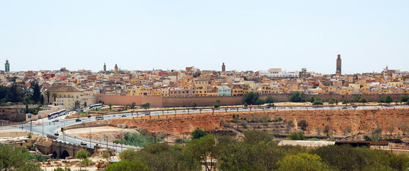 View of Meknes old city