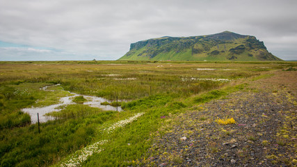 Campagne champs nature islandais Islande