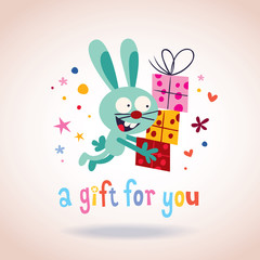 A gift for you bunny with presents