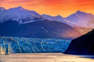 Sunrise at Hubbard Glacier Alaska Wall mural