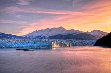 Sunrise at Hubbard Glacier Alaska. Wall mural