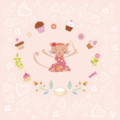 cooking cat card