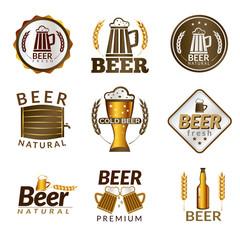 Beer golden emblems