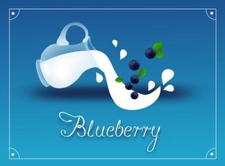 Blueberry milk background