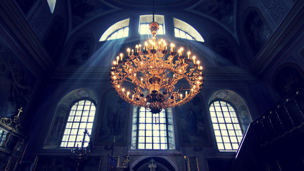 chandelier in the cathedral
