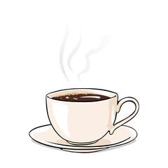 Vector Cartoon Cup of Coffee