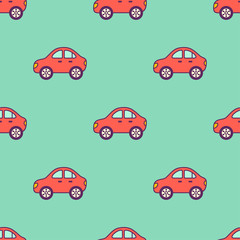 red cars pattern