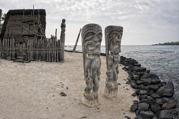 Hawaii Tiki wooden statue