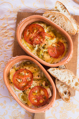 Baked cheese tomato-Greek specialty bujurdi