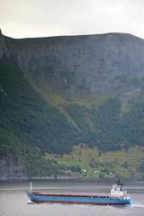 bateau dans les fjords