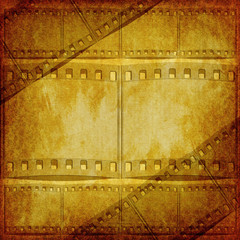 Art Vintage background with film flame