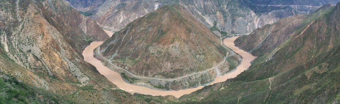 Jinsha river band Yunnan China