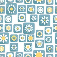 Seamless color decorative flower pattern