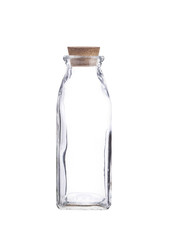 milk bottle on white background