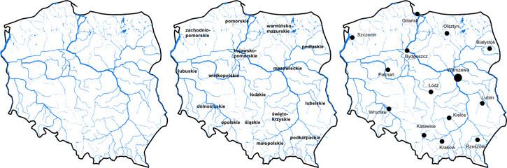 Fototapeta Mapa Polski obraz