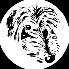 Lurcher dog logo