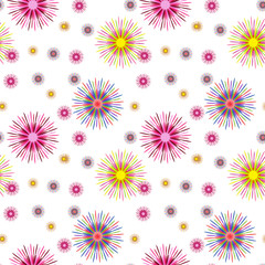 Colorful Abstract Art Psychedelic Background.  Seamless pattern.