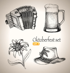 Beer Toby jug and other Oktoberfest symbols
