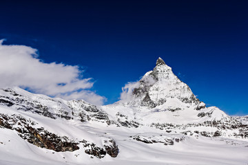 Matterhorn with blue sky ,Zermatt ,Switzerland