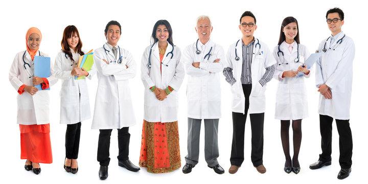 Multiracial Asian doctors