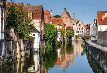 Canvas Prints Bridges Bruges canal, Flanders, Belgium