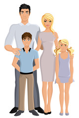 Happy family full length