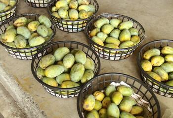 Mango closeup in fruit market